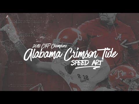 SEC Speed Art - Alabama Crimson Tide