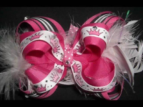 how to style hair bows sew girly bows boutique style hair bows 5268 | hqdefault