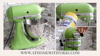 HOW TO PAINT YOUR KITCHENAID MIXER(I hope you enjoy this video where I share with you how to paint your KitchenAid mixer. Be sure to subscribe to see more videos! Thanks. Nikki My Kitchen ..., 2015-12-12T21:05:03.000Z)