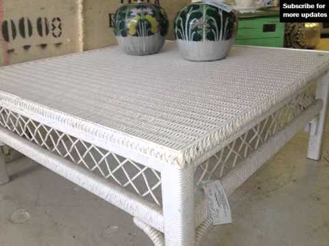 Square Wicker Coffee Table Collection