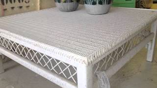 Square Wicker Coffee Table | Square Wicker Table Collection