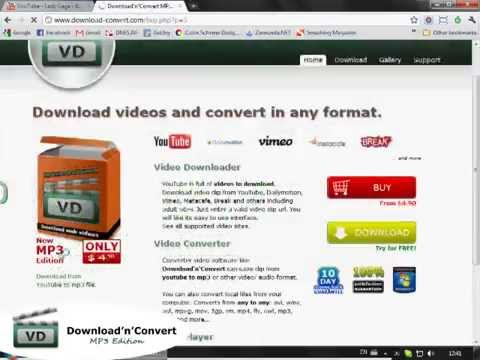 Download songs as mp3 from YouTube