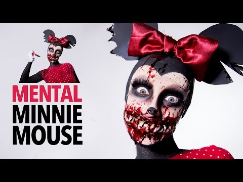 Mental Minnie Mouse sfx makeup tutorial
