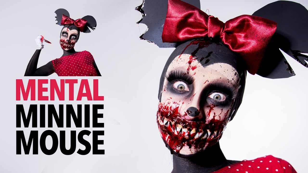 Mental Minnie Mouse sfx makeup tutorial - YouTube