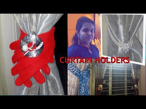 Curtain Tie Back : Video on how to create curtain holders