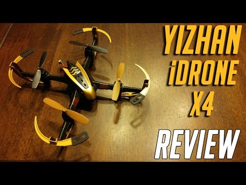 YiZhan iDrone X4 Micro Drone Review including a Real Beginner's Test Flight