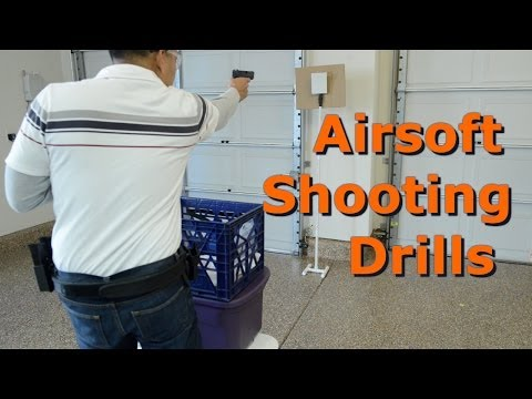 Airsoft Shooting Drills with Steel Targets and WE G17