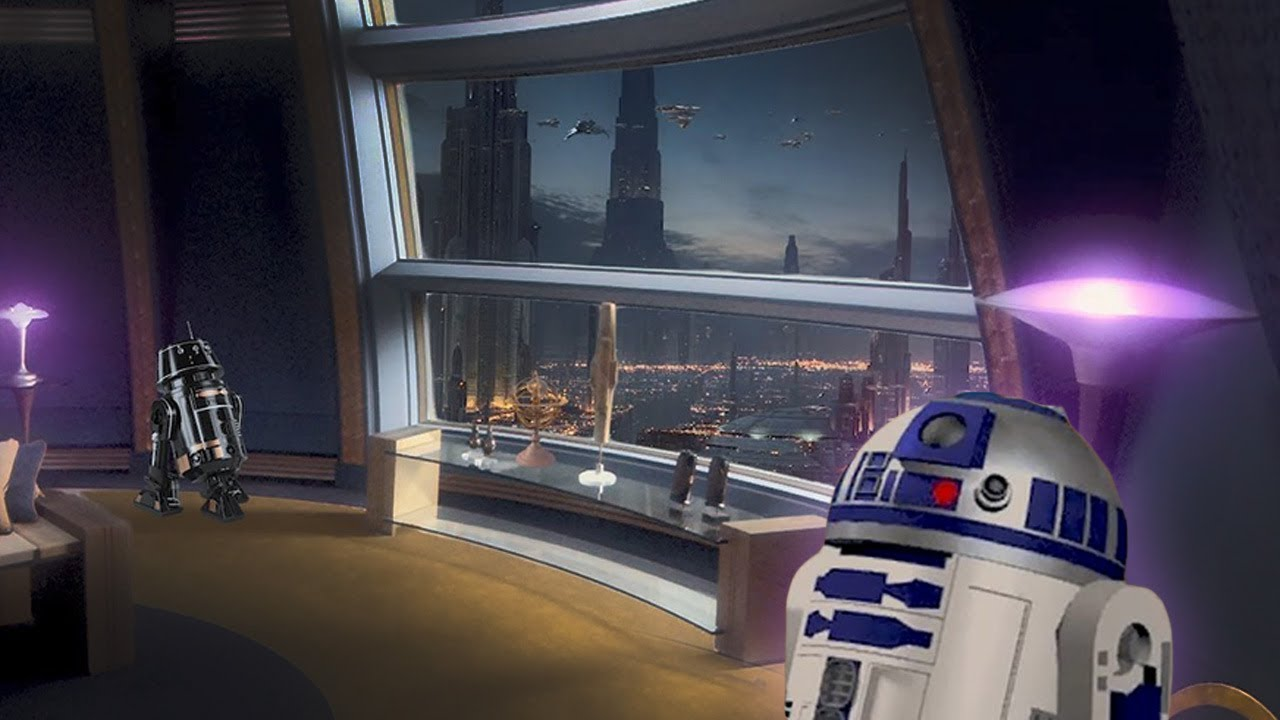 Coruscant Apartment [ASMR] ⋄ STAR WARS Ambience ⋄ R2D2 & Muffled Spaceship Sounds