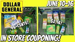 DOLLAR GENERAL IN STORE COUPONING! 6-10/6-16 | CHEAP GAIN & TRASH BAGS!