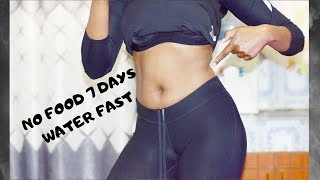7 DAY WATER FAST RESULTS! NO FOOD FOR A WEEK!!