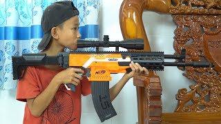Chi Bn Sng Nerf Cuc Chin Si u Sng AK 47 Nerf War AK 47 Battle Shot