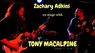 Zachary Adkins On Stage with Tony Macalpine