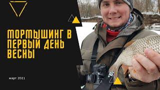 Мормышинг в первый день весны Москва река