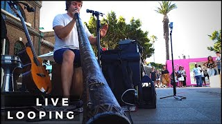 One man band composes a song live in 10 minutes using a Boss RC-505 Loop Station