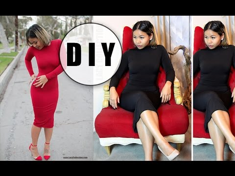 DIY Turtleneck dress