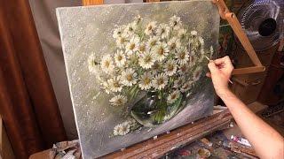 Ромашки. Живопись маслом. Oil painting from Oleg Buiko.