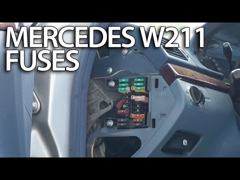 Where are fuses and relays in Mercedes-Benz W211 (fusebox location on