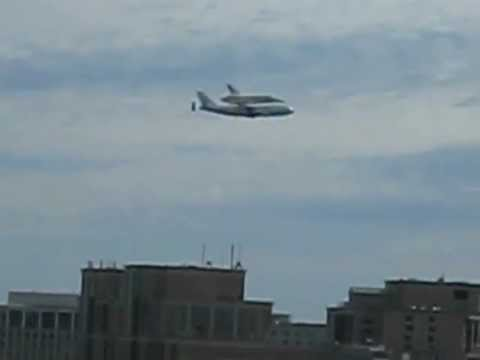 Discovery Flying Over Washington, DC and Arlington, VA