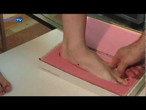 Изготовление ортопедических стелек: слепок стопы