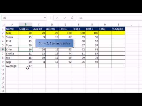 Office 2013 Class #19: Excel Basics 1: Excel Grid, Formatting, Formulas, Cell References, Page Setup