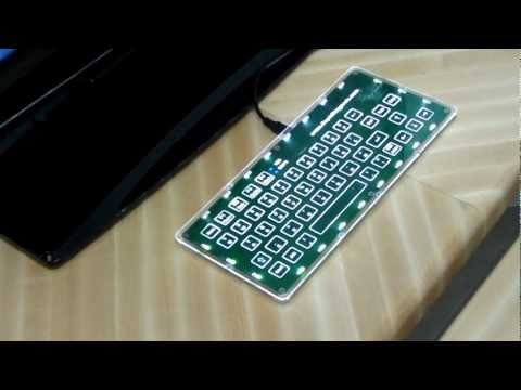 USB Capacitive Touch Qwerty Keyboard