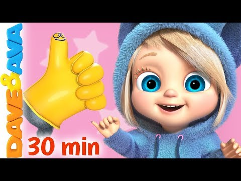 👍 Where is Thumbkin?   Nursery Rhymes and Baby Songs from Dave and Ava 👍