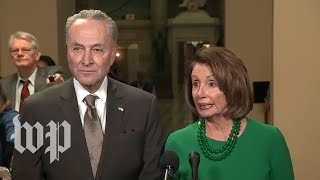 Pelosi and Schumer speak to reporters