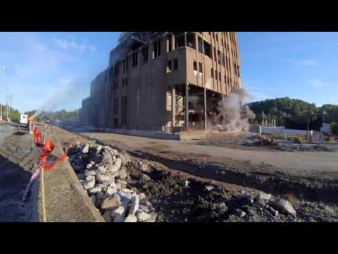 Cliffside Units 1 - 4 at Rogers Energy Complex Powerhouse Implosion