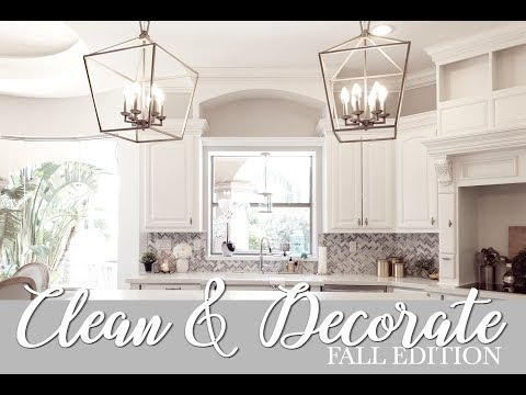 CLEAN & DECORATE WITH ME || FALL EDITION 2018 || LIVING ROOM & KITCHEN