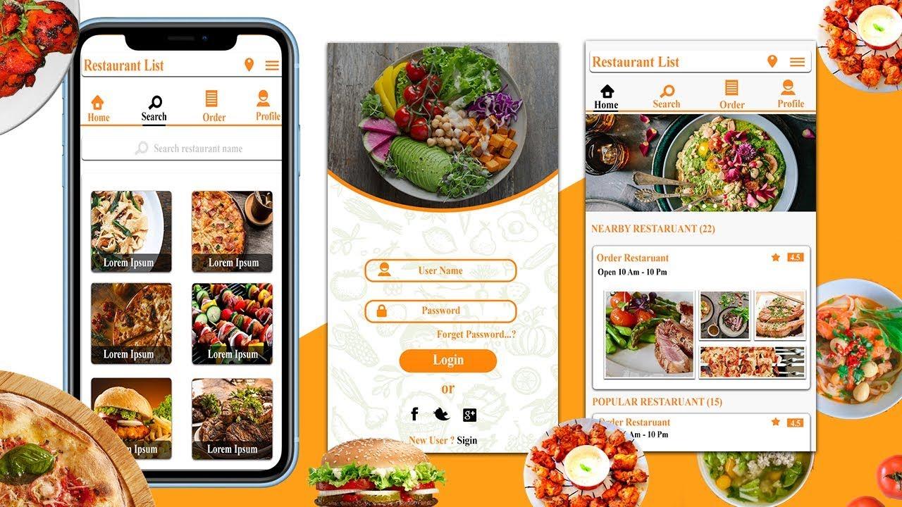 #3 Mobile App Design in Photoshop cc – Top Dish Page Design