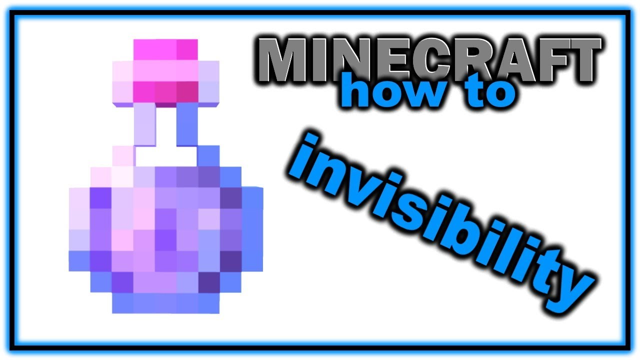 How To Make A Potion Of Invisibility Easy Minecraft Potions Guide Youtube