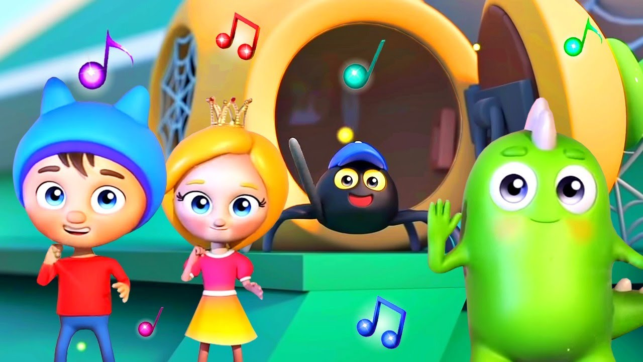 Детские песенки Сина и Ло - Паучок - Веселые музыкальные мультики