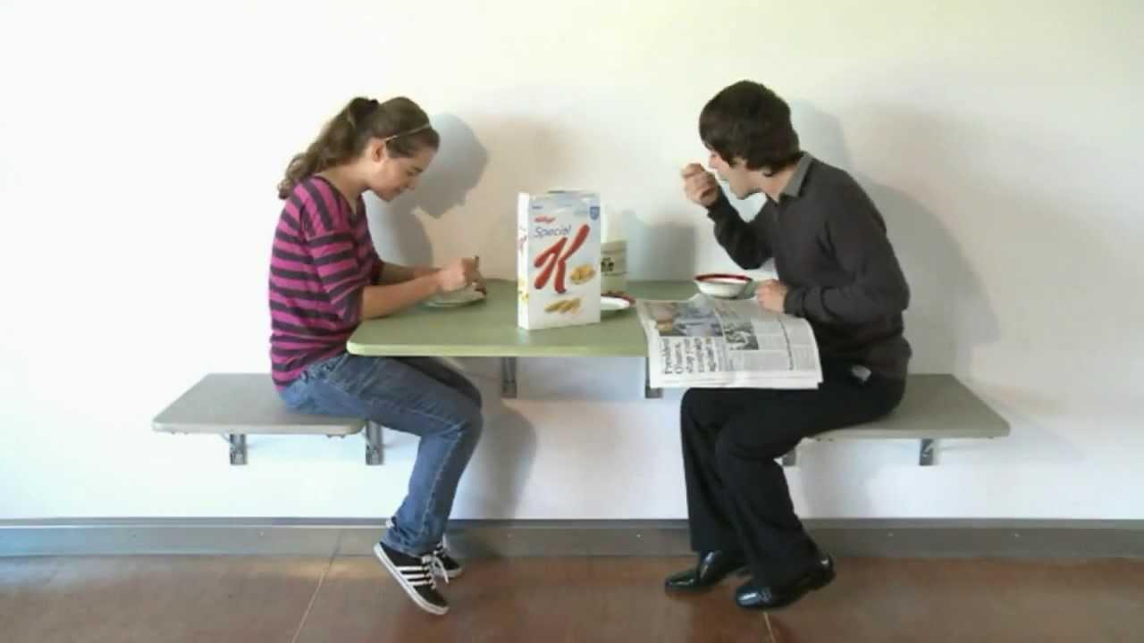 Eureka Mfgs wall mounted Table and Chairs  YouTube