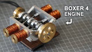 Making a Solenoid Boxer 4 Engine