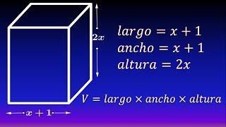 Volumen de prisma cuadrangular (Con polinomios)