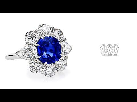 Natural Kashmir Sapphire Ring by Leon Megé r6319