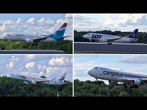 Plane Spotting at Luxembourg Findel Airport | 5th June 2017