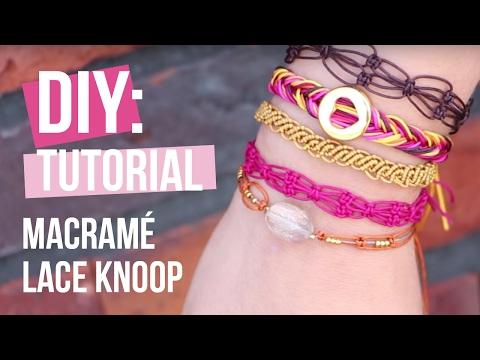 Sieraden maken: Lace knoop armband van Macramé ♡ DIY