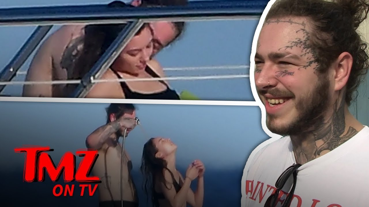 Post Malone On A Yacht With Mystery Woman! | TMZ TV