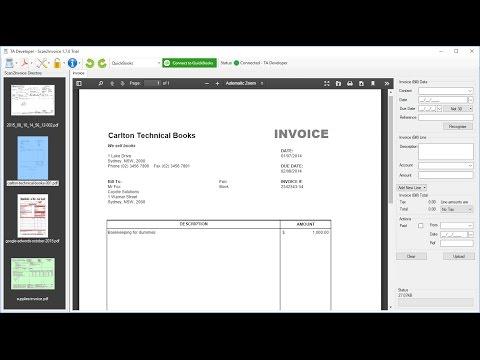 Scan Invoices Into Quickbooks Online