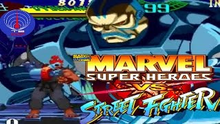 Marvel Super Heroes VS Street Fighter (ARCADE CPS2) 1CC Cyber-AKUMA && Wolverine (FULL GAMEPLAY)