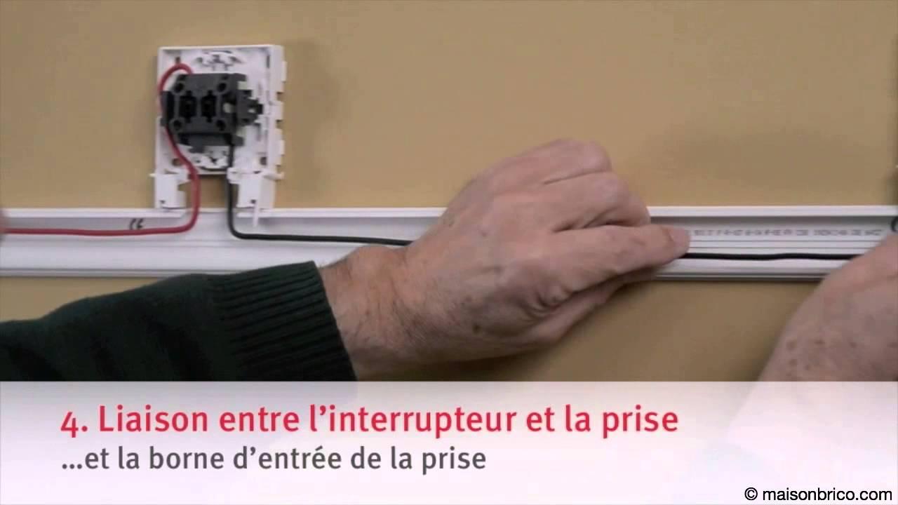 Installer Une Prise Commandée Par Un Interrupteur - YouTube
