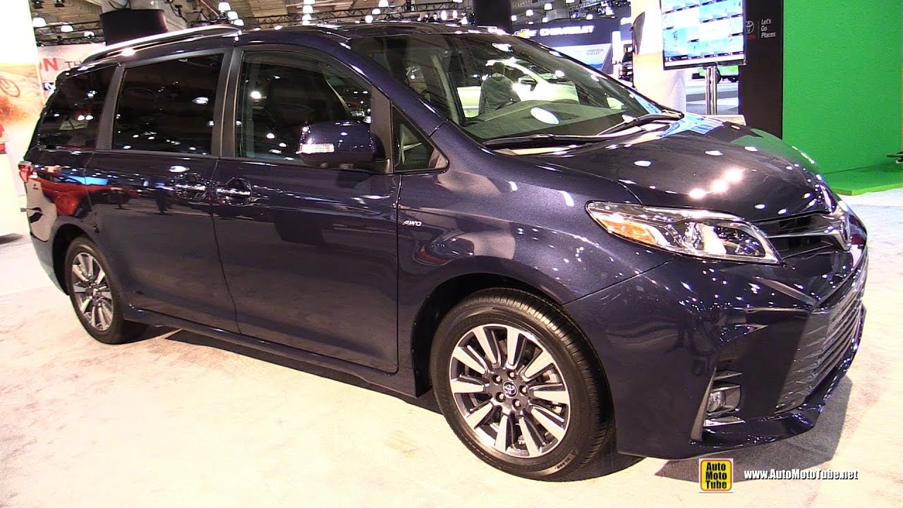2018 Toyota Sienna Ltd Awd Exterior And Interior Walkaround 2017 Ny Auto Show