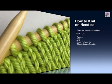How to Knit - Knit Stitch Beginner (with closed Captions CC)