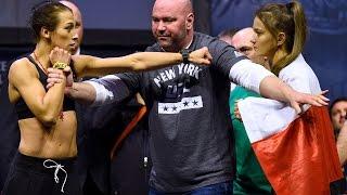 UFC 205: Joanna Jedrzejczyk vs. Karolina Kowalkiewicz Weigh-In Staredown!
