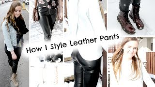 How I Style Leather Pants + GIVEAWAY! Thumbnail