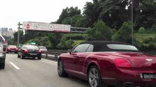 Bentley Convoy from Singapore in Kuala Lumpur