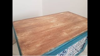 Masif doku verme-Sandık boyama - Woodgrainer