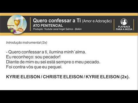 Quero confessar a Ti (PLAYBACK) - Por Angel Salmos - Belém