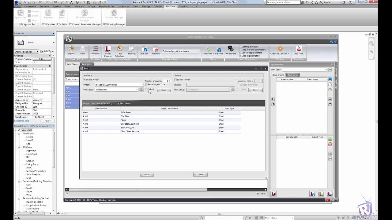 RTV Tools   RTV Xporter PRO   Autodesk Revit